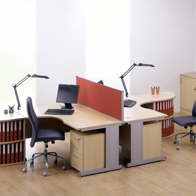 Cantilever leg desks